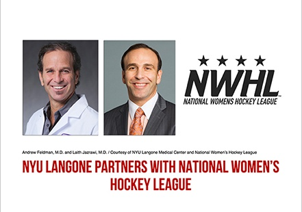 NYU Langone Partners With National Women�s Hockey League